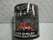 Hot Wheels Oil Can Racing Series Red 1965 Shelby Cobra Daytona  w/Real RIders