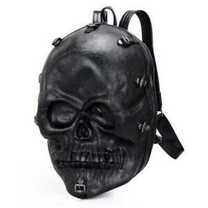 3 D Totenkopf Rucksack schwarz Fantasy Skull Bag Tasche Gothik