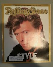 David Bowie ROLLING STONE Magazine Issue 498 April 23, 1987 Style