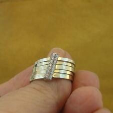 Hadar Designers Yellow 9k Gold 925 Silver Zircon Multi Ring 6.5,7,7.5 (I r564) y
