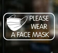PLEASE WEAR A FACE MASK Shop Sign Sticker Vehicle Taxi Bus Minibus Office Barber