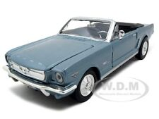 1964 1/2 FORD MUSTANG CONVERTIBLE BLUE 1/24 DIECAST CAR MODEL BY MOTORMAX 73212