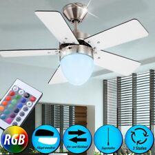 RGB LED Design Decken Ventilator Fernbedienung Wohnraum Kühler Leuchte Dimmbar