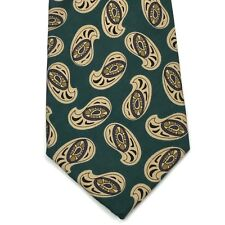 NEIMAN MARCUS Rare Collection Green Beige Multi Color Paisley Tie Necktie