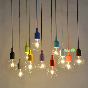 new multicolour silica gel lamp holder pendant light diy chandelier no lamp bulb