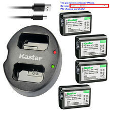 Kastar Battery Dual USB Charger for Sony NP-FW50 BC-VW1 & ILCE-6000 Alpha a6000