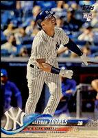 🔥 2018 Topps Gleyber Torres RC Base Rookie #699 Series 2 New York Yankees CLEAN