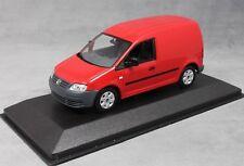 Minichamps Volkswagen VW Caddy Van in Red 1/43 NEW Dealer Edition