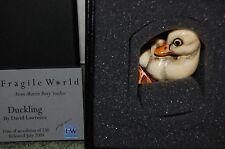 Harmony Kingdom Mp'S Fragile World~Duckling ~nib~Coa~made in England