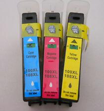 3pK 100XL 100 XL CMY Inkjet for Lexmark PRO705 PRO805 PRO905 PRO901 V715W Lip331