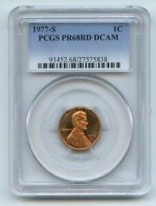 1977 S 1C Lincoln Cent Proof PCGS PR68DCAM