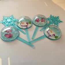 3D Snowglobe and Snowflake Christmas Cake Toppers (set 6)