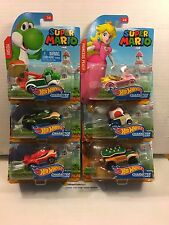 6 Car SET * 2017 Hot Wheels SUPER MARIO Character Cars