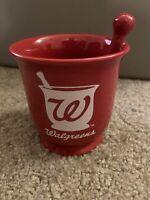 Walgreens Mortar and Pestle Red Pharmacy Coffee Cup Mug