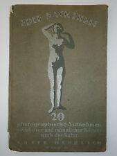 20's ANTIQUE GERMAN BOOK ALBUM NAKED EDLE NACKTHEIT PHOTO EROTIC ILLUSTRATION