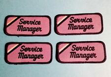 4 Lot Service Manager Employee Work Shirt Name Tag Uniform Jacket Hat Patches