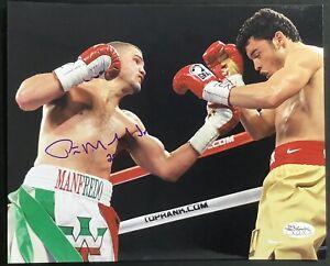 Peter Manfredo Jr Signed Photo 8x10 Autograph Boxing v Julio Cesar Chavez Jr JSA
