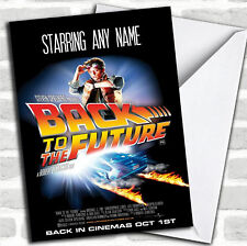 Spoof Back To The Future Movie Film Poster Birthday Customised Card
