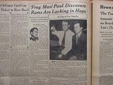 1952 The Quarterback/Sporting News Insert(w/FROG  MAN POOL/LOU GROZA/BIGGIE MUNN