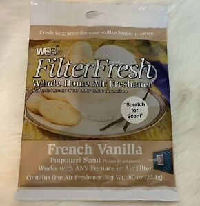 2 Pack Web Filter Fresh Whole Home Air Freshener French Vanilla