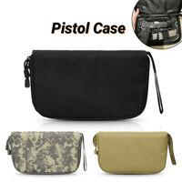 600D Tactical Army Padded Pistol Handgun Storage Zipper Carry Case Pouch Gun Bag