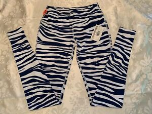 Team tights Leggings Blue and White  NWT Size XS