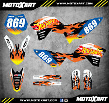 Full Custom Graphics Kit BLAZE Style stickers to fit KTM 50 2009 - 2015 decals