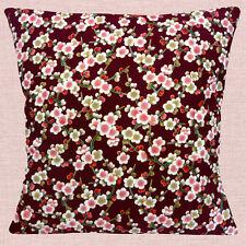 "Japón Oriental Asia Cherry Blossom Borgoña Rosa 16 ""Almohada cojín"