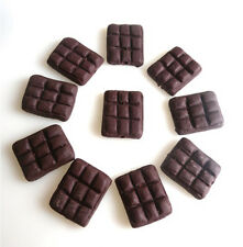 10 PIECES CHOCOLATE SLABS CLAY POLYMER BEADS  JEWELLERY NECKLACE BRACELET