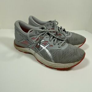 ASICS Womens Size 10 Running Shoes Gel Flux 5 Grey Pink Workout Athletic Mesh