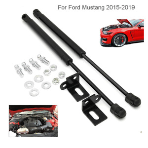 For Ford Mustang 2015-2019 Front Bonnet Gas Strut Air Lift Supports Hood 2Pcs