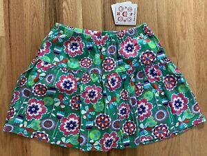 NEW! Hanna Andersson Skirt Skort Girls Size 140 (10) Green w/ Floral Print Cute!