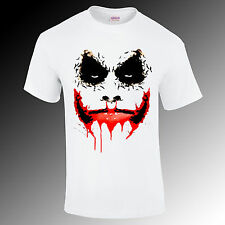 Batman Joker bat face printed t-shirt, movie, super hero Gift Funny S-XXL