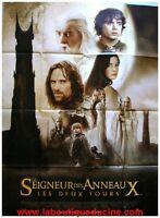 LE SEIGNEUR DES ANNEAUX LES 2 TOURS Affiche Cinéma / Movie Poster PETER JACKSON