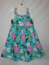 Girls size 8 Bonnie Jean Floral lined ruffle pleated dress full teal Beautiful