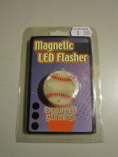 """MAGNETIC LED FLASHER-BASEBALL-1 1/4"""" WIDE-BATTERIES INCLUDED-5 LED'S-BRAND NEW"""