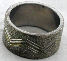 Silver Tone WIDE Ring with etching