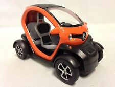 Renault Twizy, 1:18 scale Diecast Car, Pull Back Action, By Kinsfun Toys, Orange