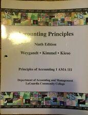Accounting Principles 9th Edition: Weygandt, Kimmel & Kies