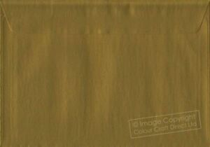 Metallic Gold C5 Envelopes - 162 mm x 229 mm 100gsm Self Seal A5 Colour Envelope