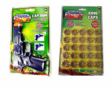Sure Shot Swat Gun Toy+ 200 Sure Shots Ring Caps For Childrens Outdoor Play Game