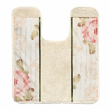 Popular Bath Madeline Beige Collection Bathroom Contour Rug