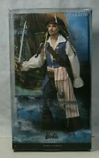 Barbie Ken Pirates of the Caribbean Captain Jack Sparrow Barbie Doll NRFB