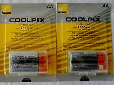 Nikon COOLPIX EN-MH1-B2 (E) 1.2V min 2500mAh AA Ni-mh Battery 4 x AA GENUINE