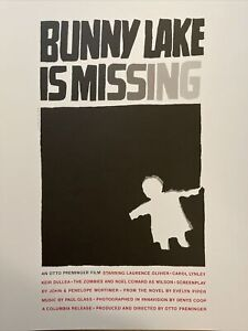 Bunny Lake Is Missing, Otto Preminger, Lawrance Olivier Saul Bass Film Poster 14