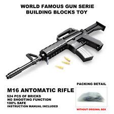 World Famous Guns,Top Guns,M16 Automatic Machine Gun Model,Static Building Block