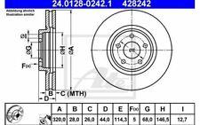 2x ATE Disques de Frein Avant Ventilé 320mm pour RENAULT KOLEOS 24.0128-0242.1