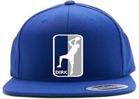 Blue Dirk Nowitzki Dallas Mavericks NBA Logo Snapback Hat