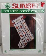 NEW Counted Cross Stitch Sunset Christmas Toys Stocking 2902