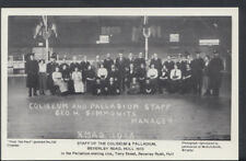 Yorkshire Postcard - Staff of The Coliseum & Palladium, Beverley Rd, Hull   T271
